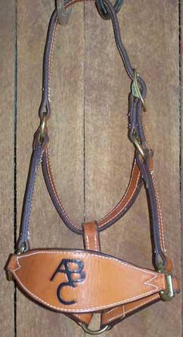Leather Bronc Halter Tooled